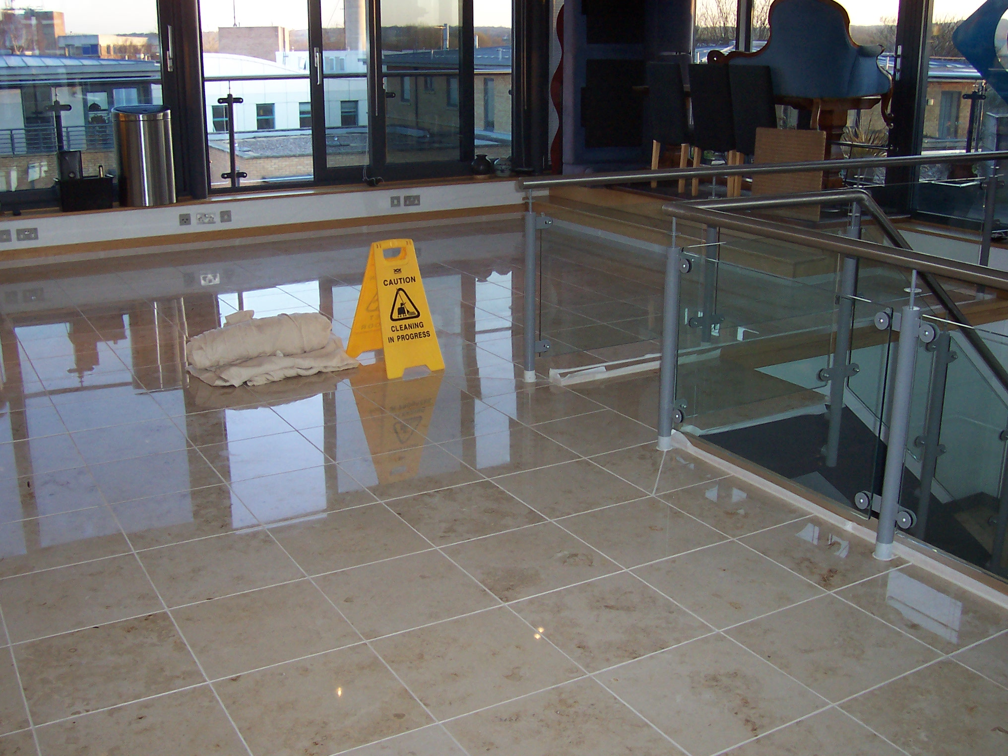 Marble floor cleaning & polishing Oxfordshire