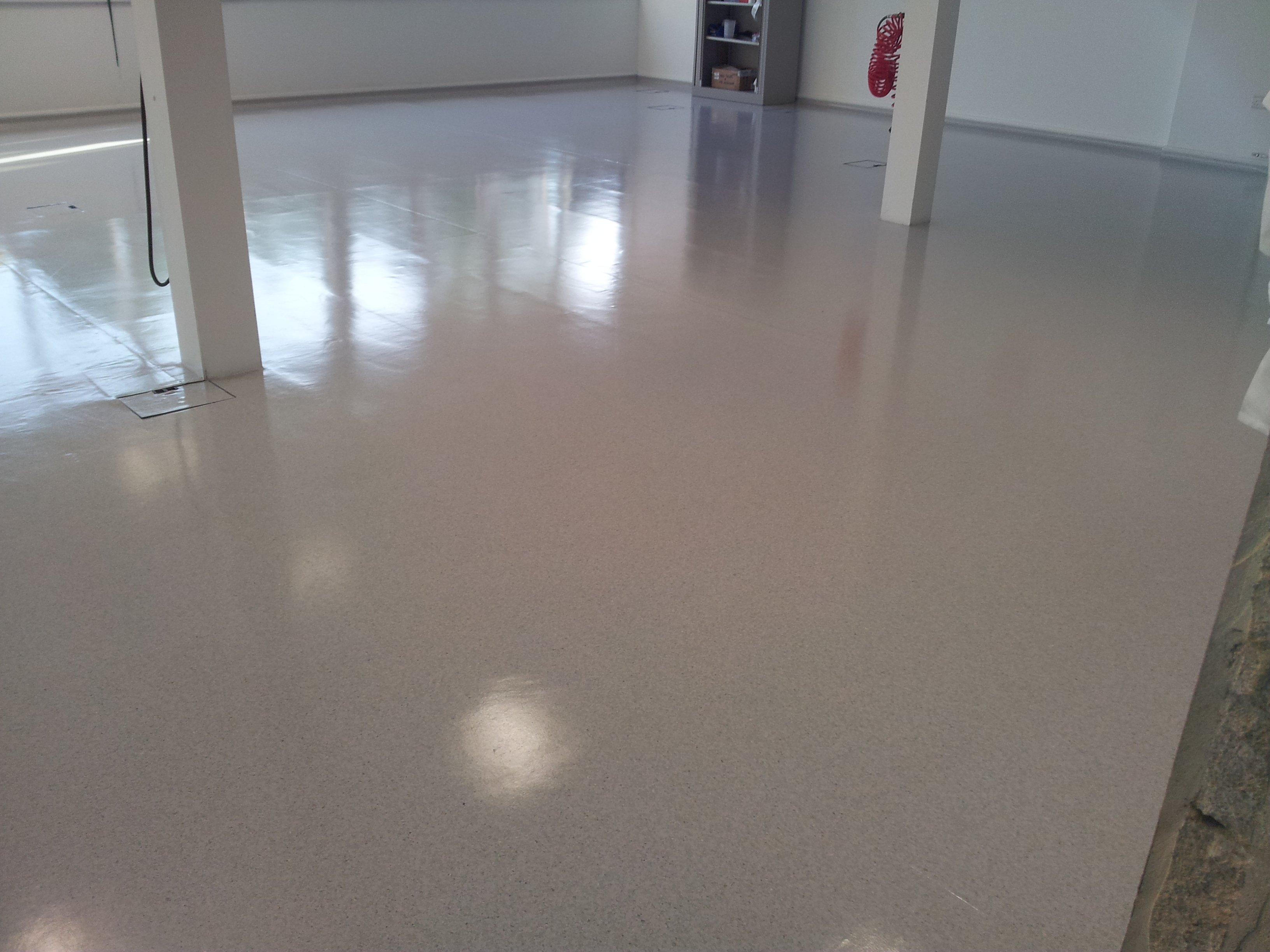 Commercial hard floor cleaning vinyl marmoleum for What to clean concrete floors with