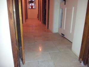 travertine polishing oxford