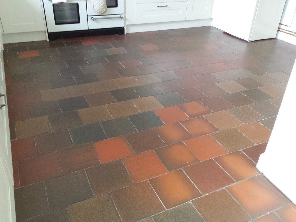 Terracotta quarry floor tiles
