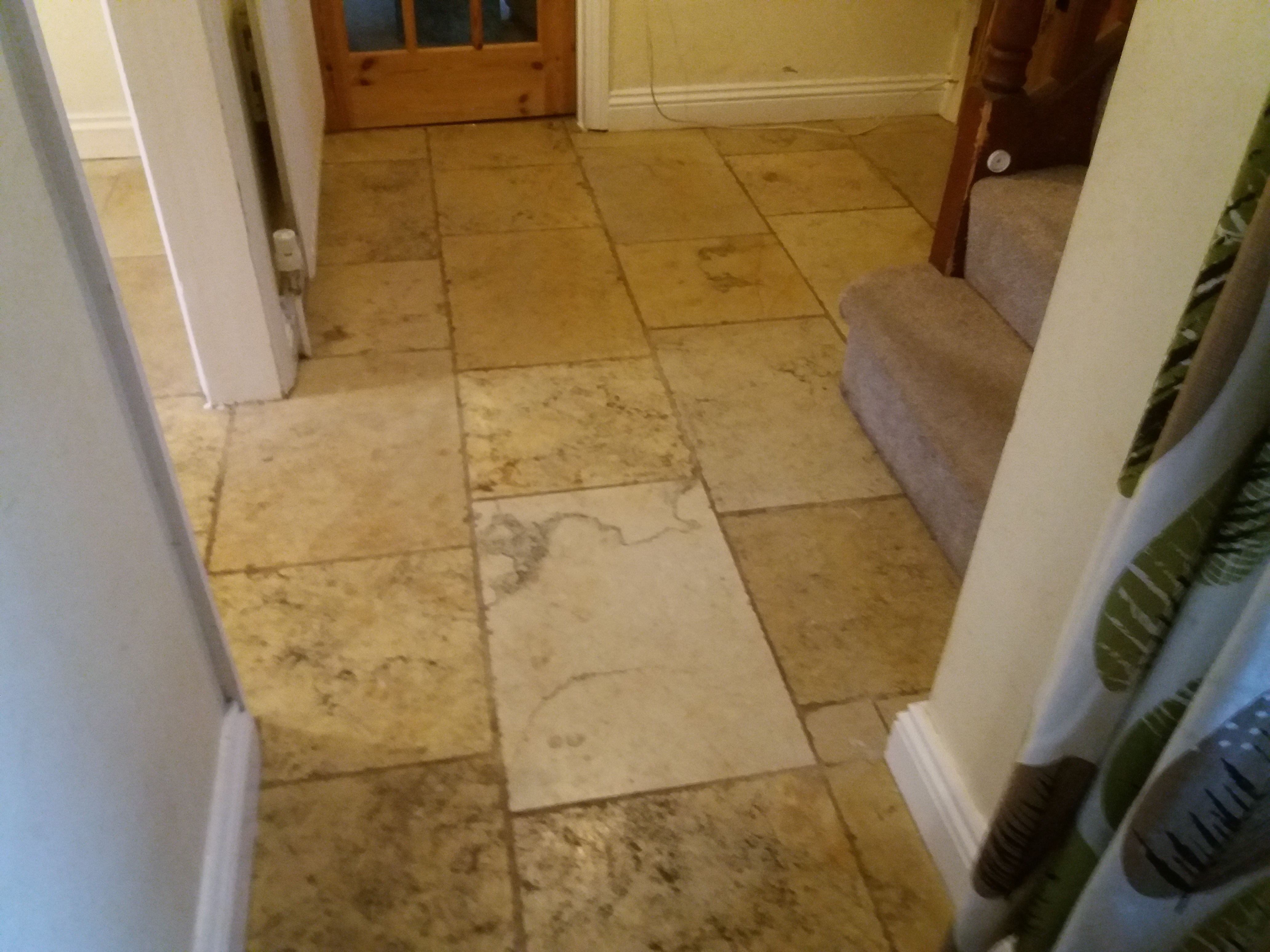 Stone floor cleaning in the Cotswolds